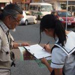 共謀罪法反対のチラシ配布と署名行動 @糟屋支部