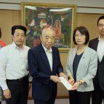 福岡県に災害義援金を贈呈